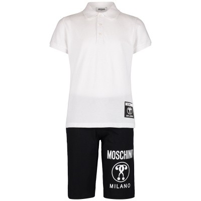 Picture of Moschino HUK01P kids set white