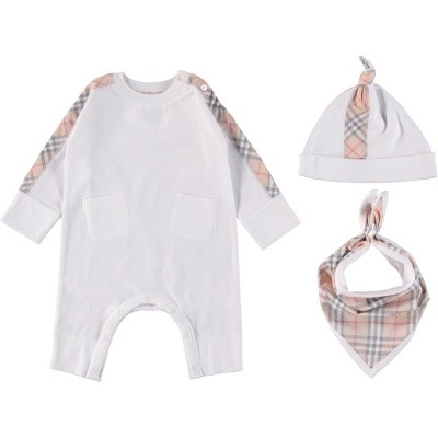 Picture of Burberry 8006216 baby playsuit white