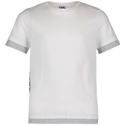 Afbeelding van Karl Lagerfeld Z25182 kinder t-shirt wit