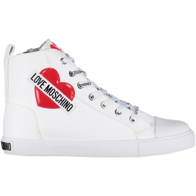 Afbeelding van Moschino JA15023G16 dames sneakers wit