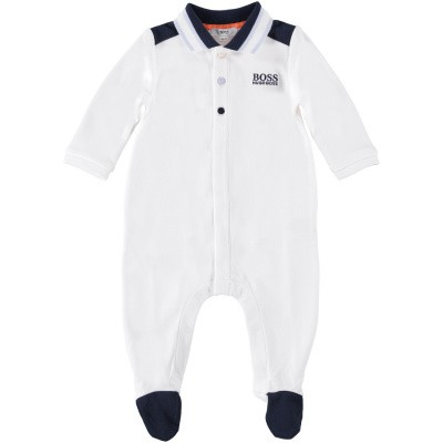 Picture of Boss J97138 baby playsuit white