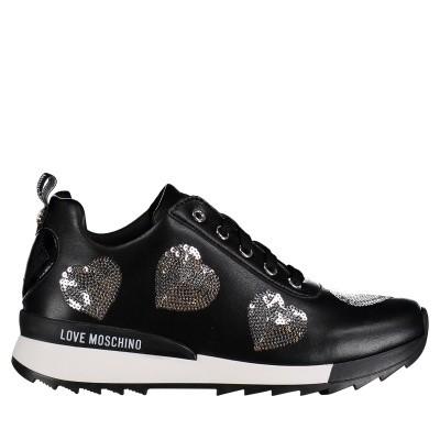 Afbeelding van Moschino JA15202 dames sneakers zwart