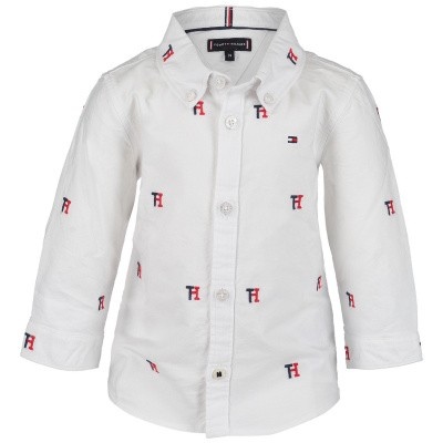 Picture of Tommy Hilfiger KB0KB04517B baby blouse white