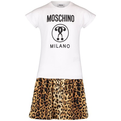 Picture of Moschino HDV07R kids dress panther