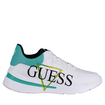 Picture of Guess FL5MILELE12 womens sneakers white