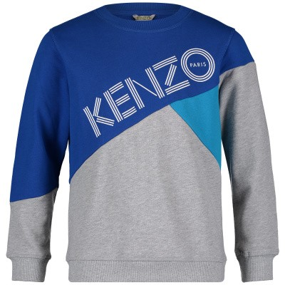 Picture of Kenzo KN15618 kids sweater grey