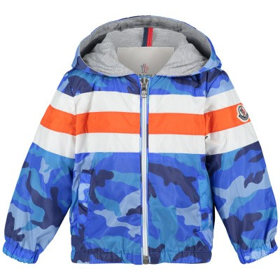 Picture of Moncler 4118505 baby coat blue