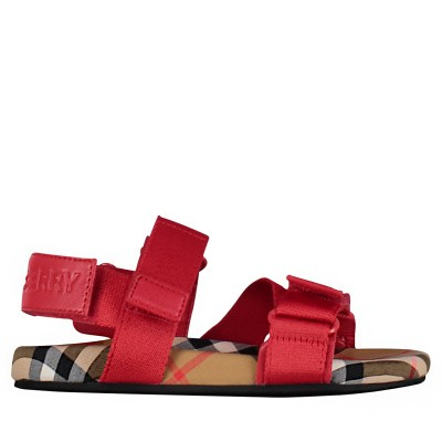 Picture of Burberry 8011415 kids sandals red