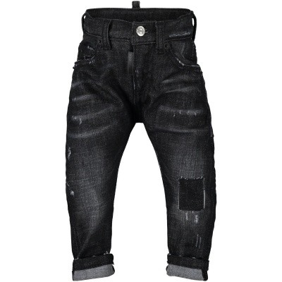 Picture of Dsquared2 DQ01TC D00SJ baby pants black
