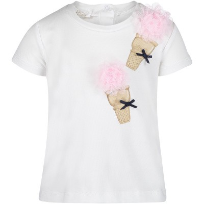 Picture of Liu Jo H19030 baby shirt white