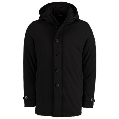 Picture of Airforce HR82M0327 mens coat black