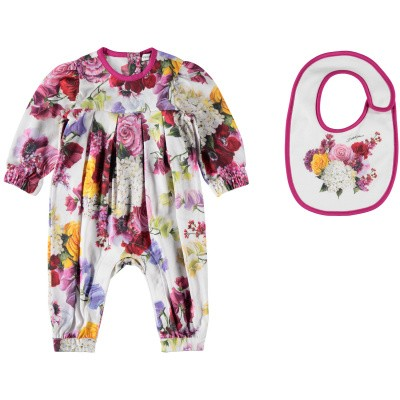 Picture of Dolce & Gabbana L2JG13 baby playsuit white