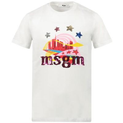 Afbeelding van MSGM 020665 kinder t-shirt wit