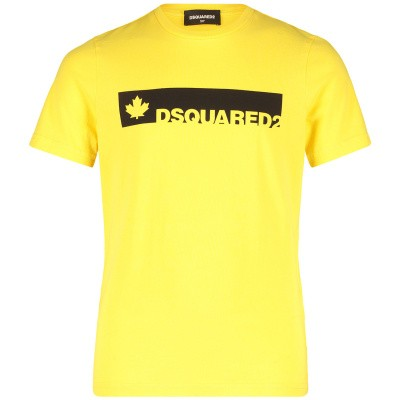 Picture of Dsquared2 DQ02UT kids t-shirt yellow