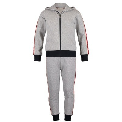 Picture of Moncler 8811700 kids sweatsuit grey