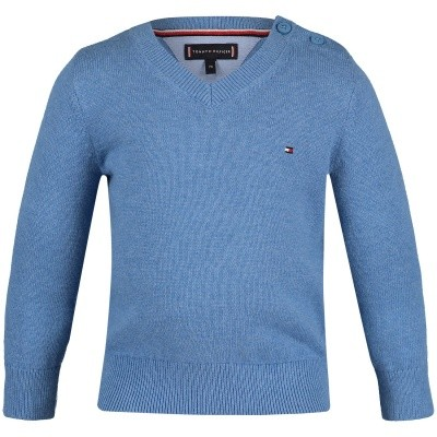 Picture of Tommy Hilfiger KB0KB04499B baby sweater light blue