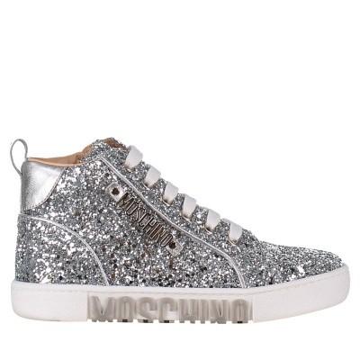 Afbeelding van Moschino 26217 kindersneakers zilver