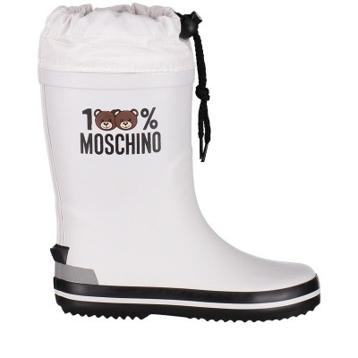 Picture of Moschino 26278 kids boots white