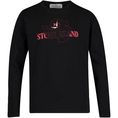 Afbeelding van Stone Island 691621152 kinder t-shirt zwart