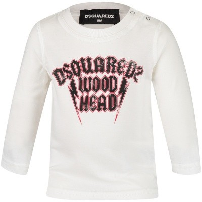 Afbeelding van Dsquared2 DQ031R baby t-shirt wit