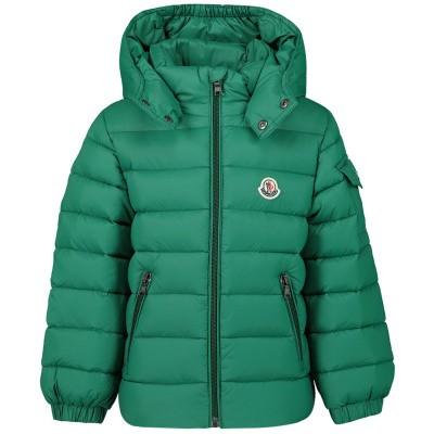 Afbeelding van Moncler 4199405 babyjas donker groen