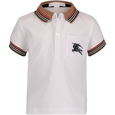 Picture of Burberry 8006457 baby poloshirt white