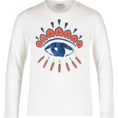 Afbeelding van Kenzo KM10718 kinder t-shirt off white