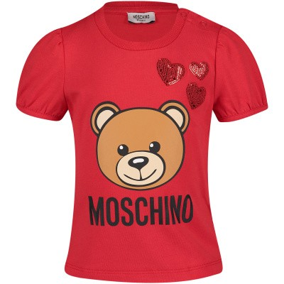 Picture of Moschino MDM02A baby shirt red