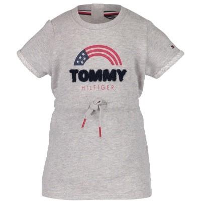 Afbeelding van Tommy Hilfiger KG0KG03644 B baby jurkje grijs