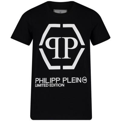 Afbeelding van Philipp Plein BTK0662 kinder t-shirt zwart