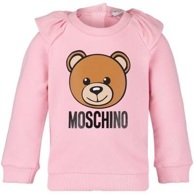 Afbeelding van Moschino MDF01K baby trui licht roze
