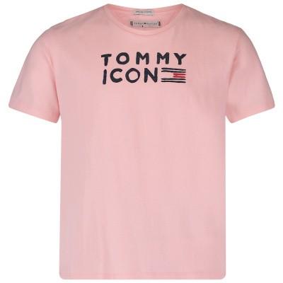 Afbeelding van Tommy Hilfiger KG0KG04392 kinder t-shirt licht roze