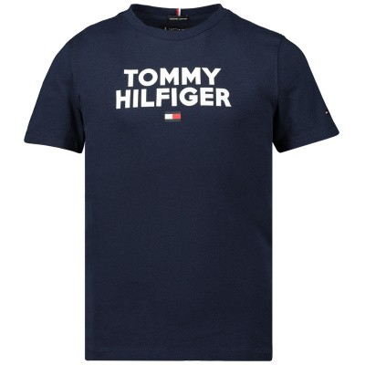 Afbeelding van Tommy Hilfiger KB0KB04992 kinder t-shirt navy