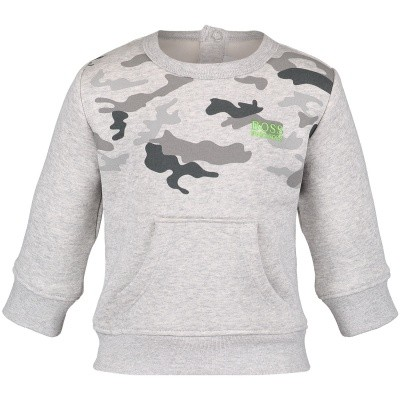 Picture of Boss J05670 baby sweater grey