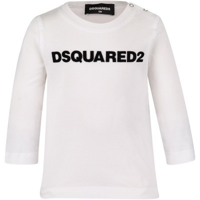Afbeelding van Dsquared2 DQ02ZQ baby t-shirt wit