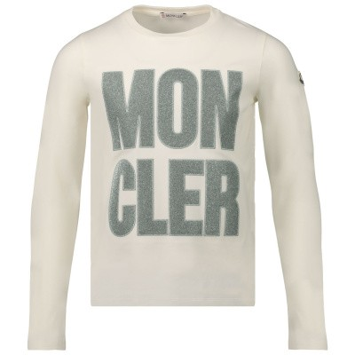 Afbeelding van Moncler 8074150 kinder t-shirt off white