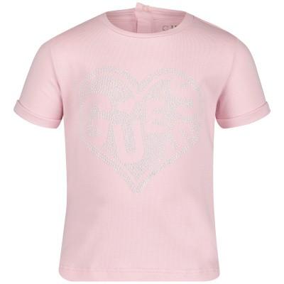 Afbeelding van Guess A92I00 baby t-shirt licht roze