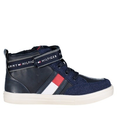 Picture of Tommy Hilfiger T1B430088 kids sneakers navy