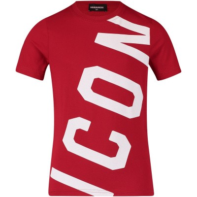 Afbeelding van Dsquared2 DQ038T kinder t-shirt rood