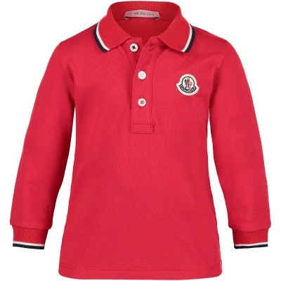 Afbeelding van Moncler 8305505 baby polo rood