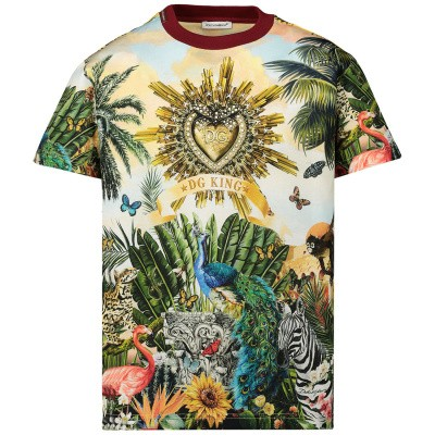 Picture of Dolce & Gabbana L4JT7N G7SRL kids t-shirt yellow