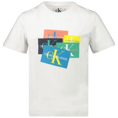 Afbeelding van Calvin Klein IB0IB00214 kinder t-shirt wit