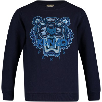 Picture of Kenzo KN15698 kids sweater navy