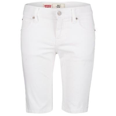 Afbeelding van Levi's NN25037 kinder shorts wit