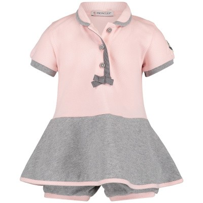 Picture of Moncler 8571605 baby dress light pink