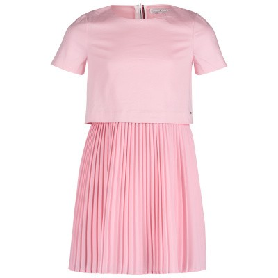 Picture of Tommy Hilfiger KG0KG04295 kids dress light pink