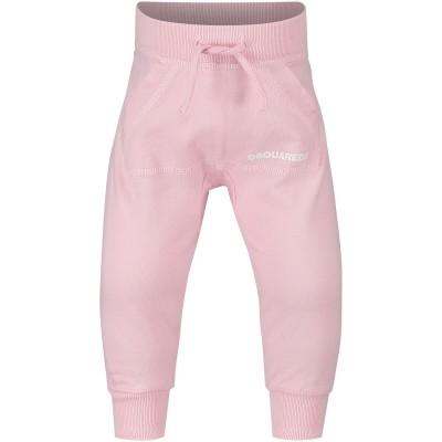 Afbeelding van Dsquared2 DQ01CL baby joggingpak licht roze