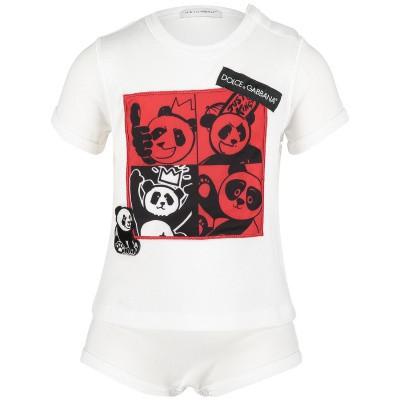 Afbeelding van Dolce & Gabbana L1JO9C baby t-shirt wit