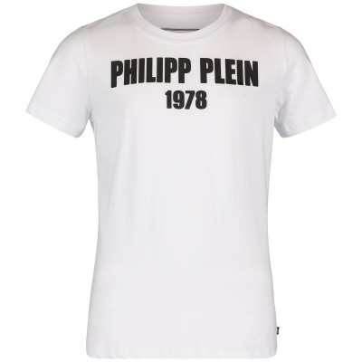 Picture of Philipp Plein BTK0669 kids t-shirt white