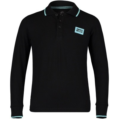 Picture of My Brand BMBPO006G3003 kids polo shirt black